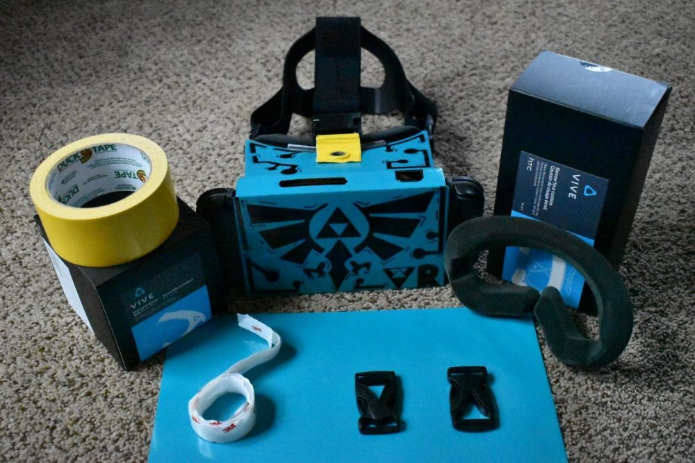 Fan gives his Nintendo Labo VR Kit a Legend of Zelda makeover, throws in a headstrap as well