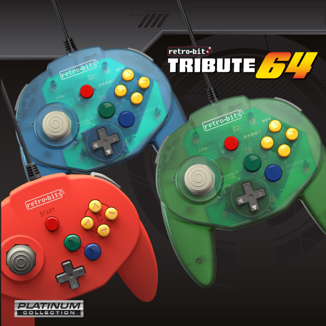 Retro-Bit pays homage to the Nintendo 64 with the First Release of their Platinum Collection: The Tribute64