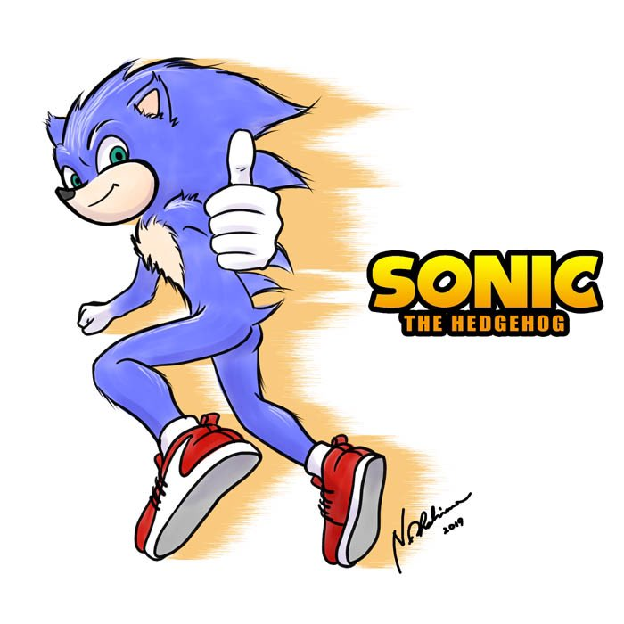 sonic the hedgehog movie redesign drawing