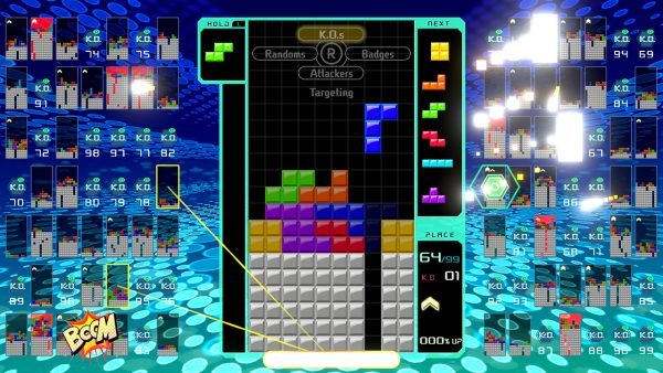 Tetris 99 originally had 8 tactical options, more DLC focused on