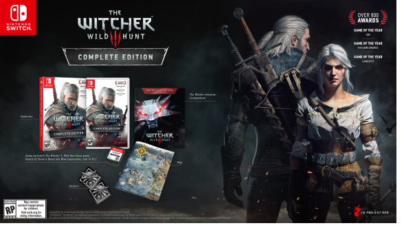 The Witcher 3 Complete Edition coming to Nintendo Switch in 2019