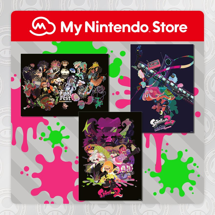 Splatoon 2 Poster Set available via My Nintendo Europe | GoNintendo