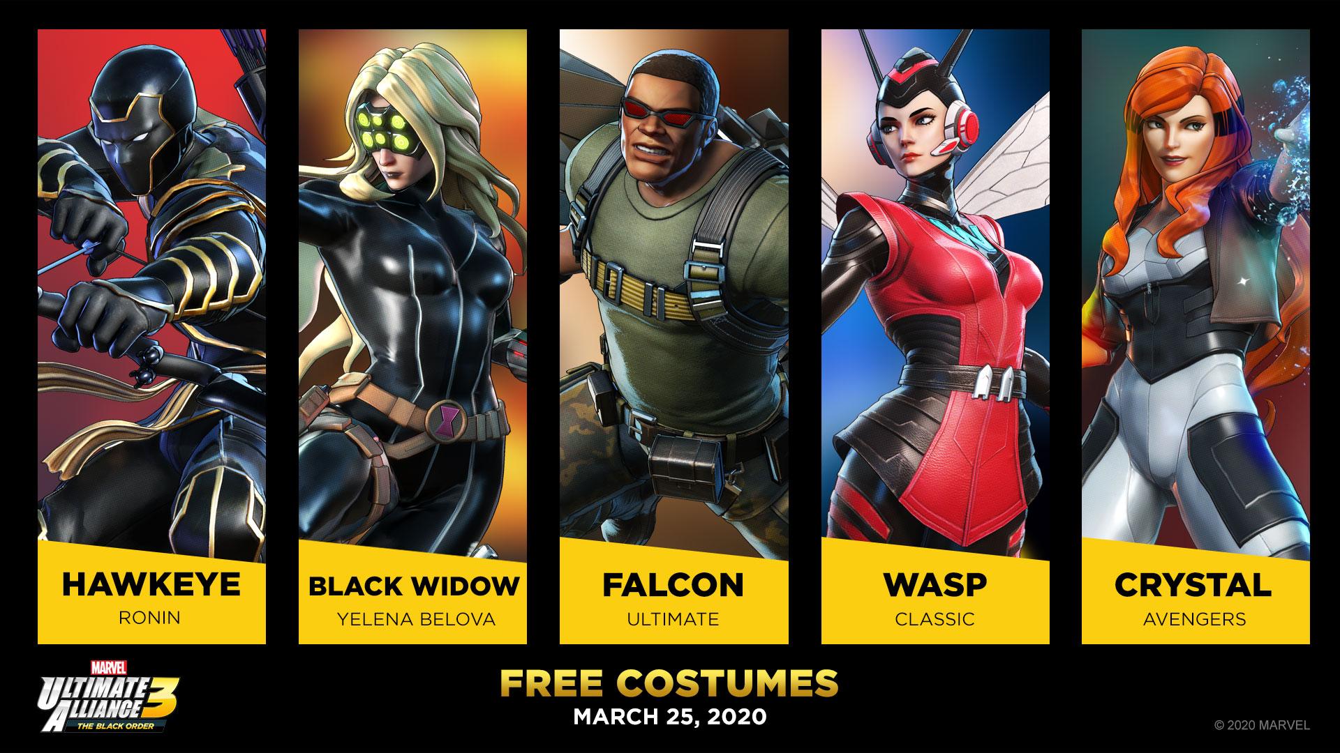 Και νέα ΔΩΡΕΑΝ costumes στο Marvel Ultimate Alliance 3: The Black Order