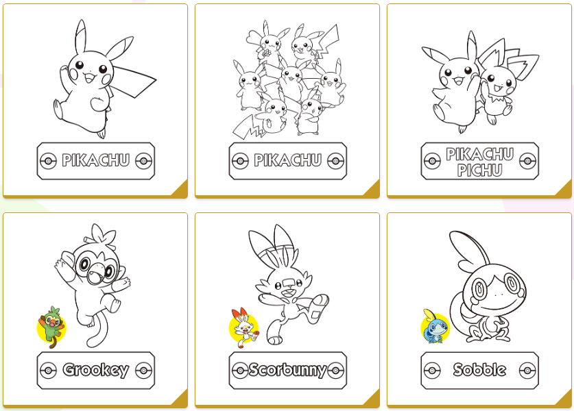 - Download Free, Official Pokemon Coloring Book Pages GoNintendo