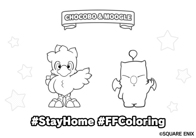 - Square-Enix Shares A Final Fantasy Coloring Book Sheet For Those Staying  Safe At Home GoNintendo