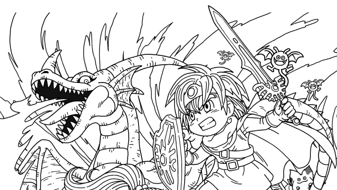 Full-time playable characters of Final Fantasy IX coloring page ... | 385x681
