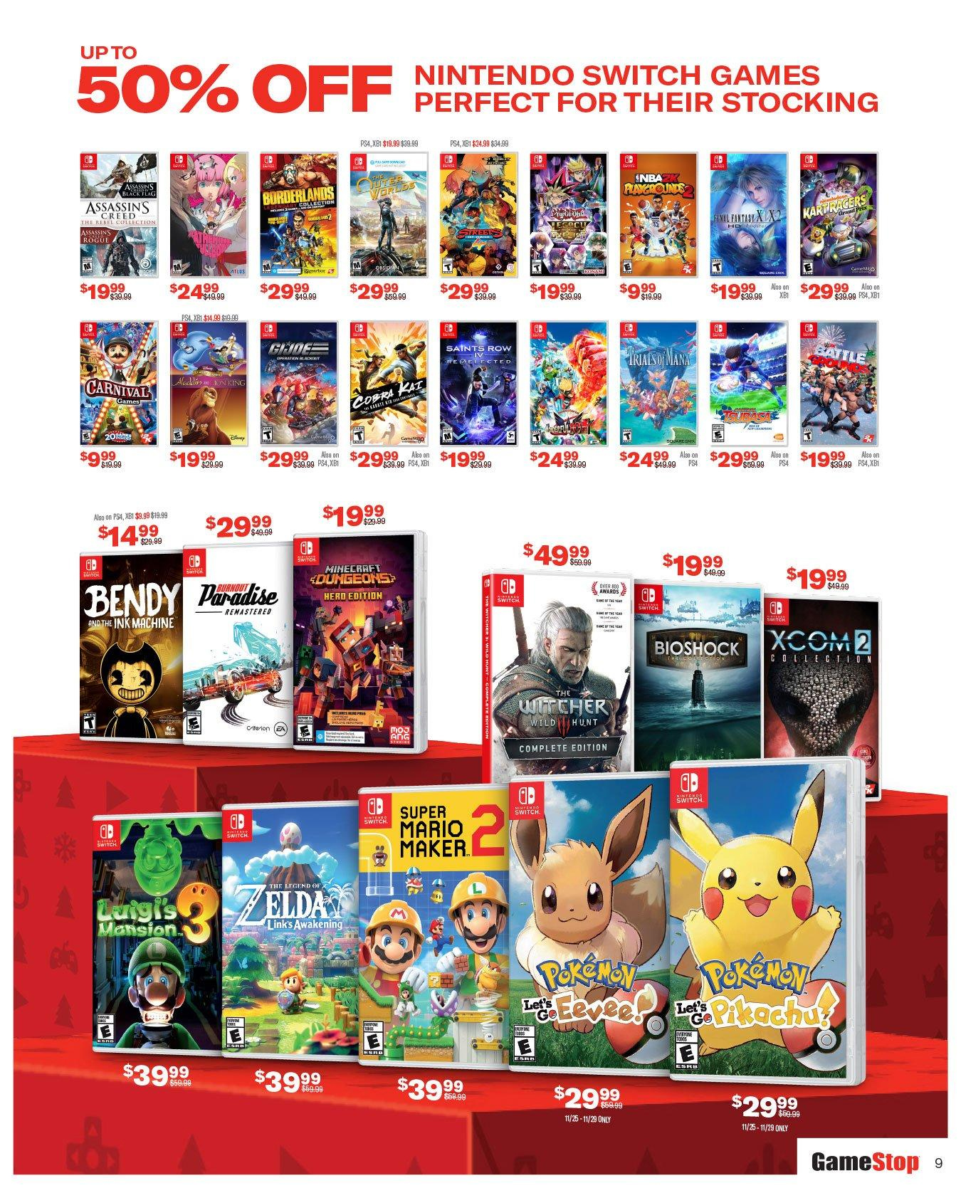 Gamestop Reveals Their Black Friday Deals Many Nintendo Switch Titles Available At A Discount Gonintendo
