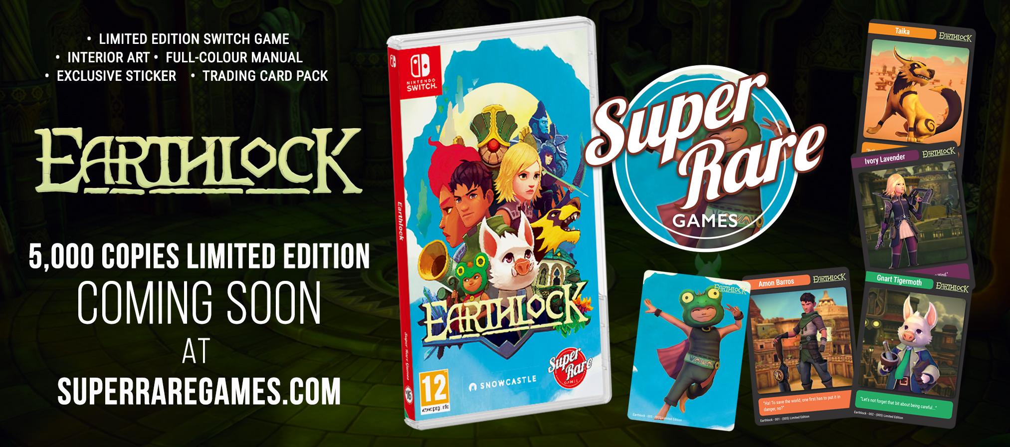 Super Rare Games' retail release of Earthlock will be available to preorder on May 16th, 2019