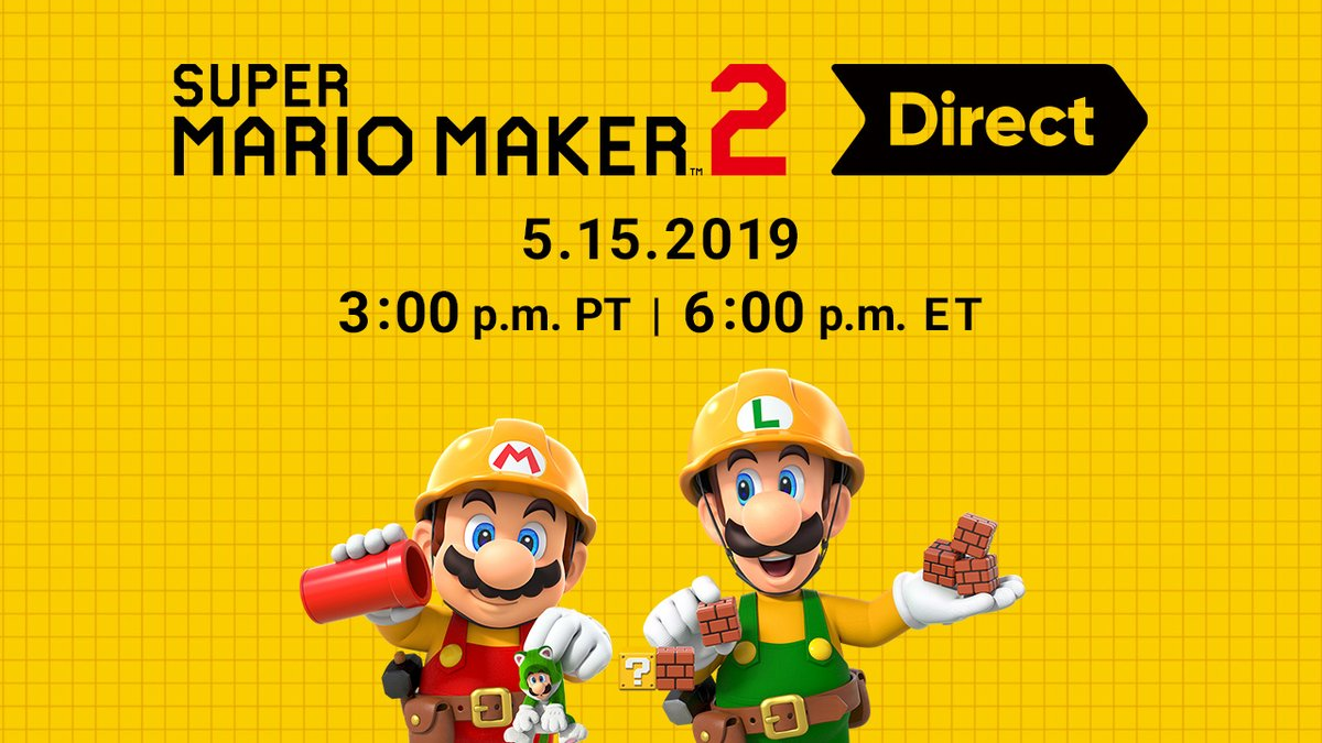 Super Mario Maker 2 Nintendo Direct slated for May 15th at 3 p.m. PT