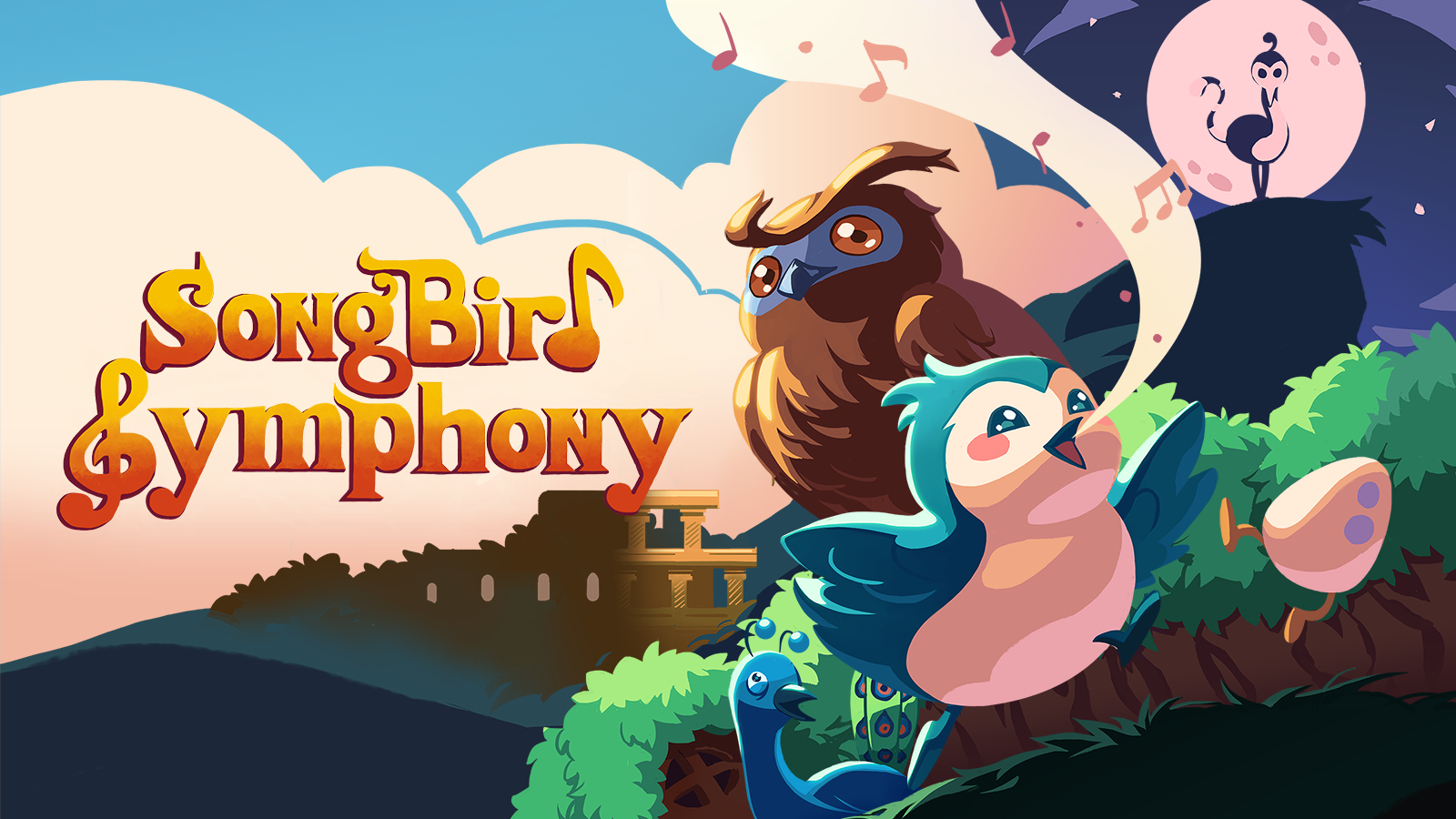 Rhythm game meets adorable platformer: Songbird Symphony musical trailer released