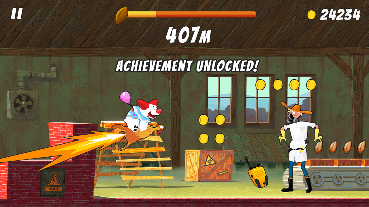 Chicken Rider, an endless runner cartoon, now available on Switch