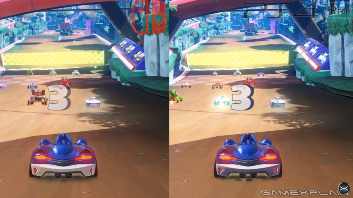Team Sonic Racing - Switch vs. PS4 Graphics & Load Times Comparison