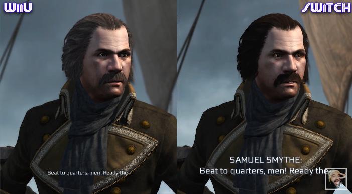 Assassin's Creed III Remastered - Wii U Vs. Switch comparison