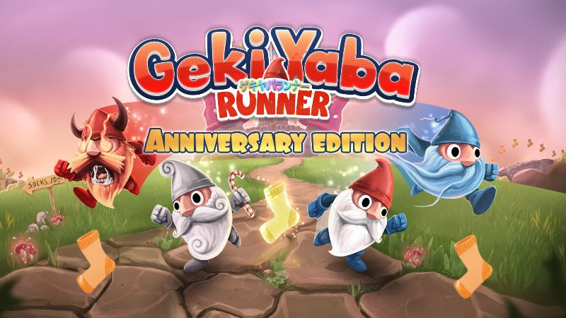 Geki Yaba Runner Anniversary Edition now available on Switch, available for free if you own another QubicGames title