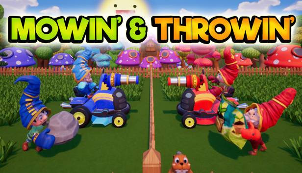2v2 Sabotage Party Game 'Mowin' & Throwin'' Out Now on Switch