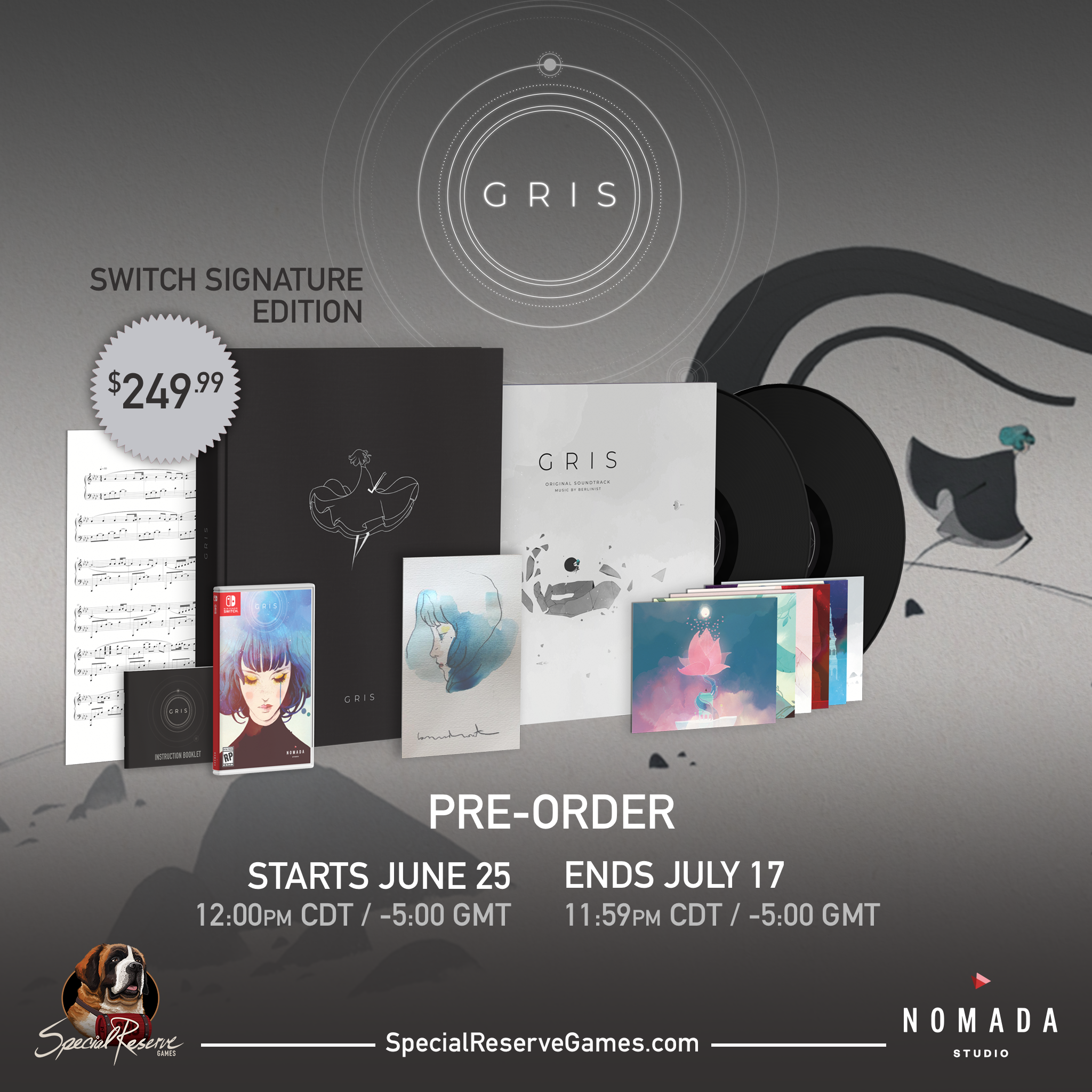 Special Reserve Games and iam8bit announce exclusive GRIS physical editions and vinyl soundtrack