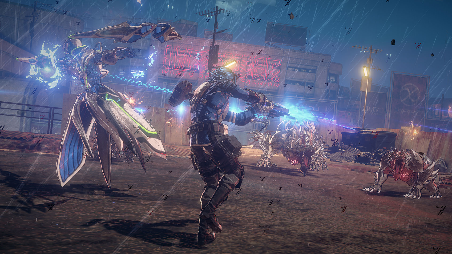 Have a look at Nintendo's Astral Chain presentation from Japan Expo 2019