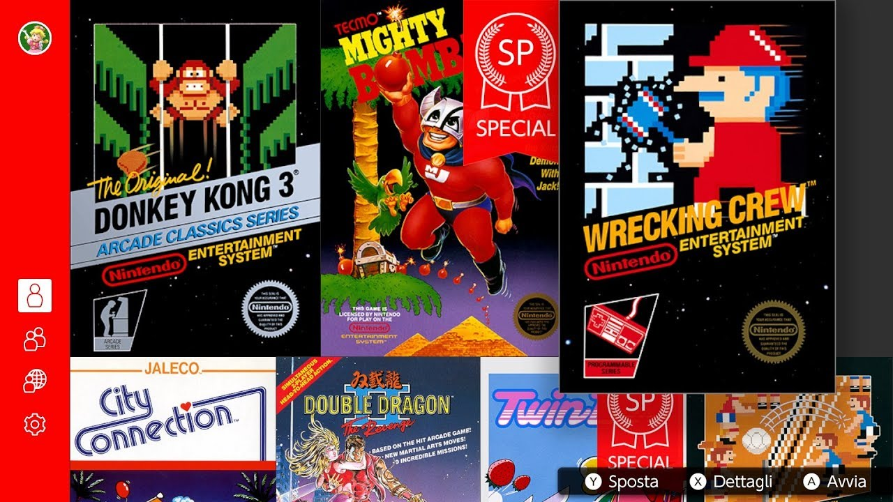 Switch Online NES Collection - Donkey Kong 3, Wrecking Crew & Mighty Bomb Jack SP footage