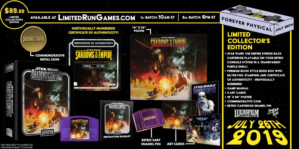 Limited Run re-releasing Star Wars: Shadows of the Empire, reveals line of special Hyperkin accessories