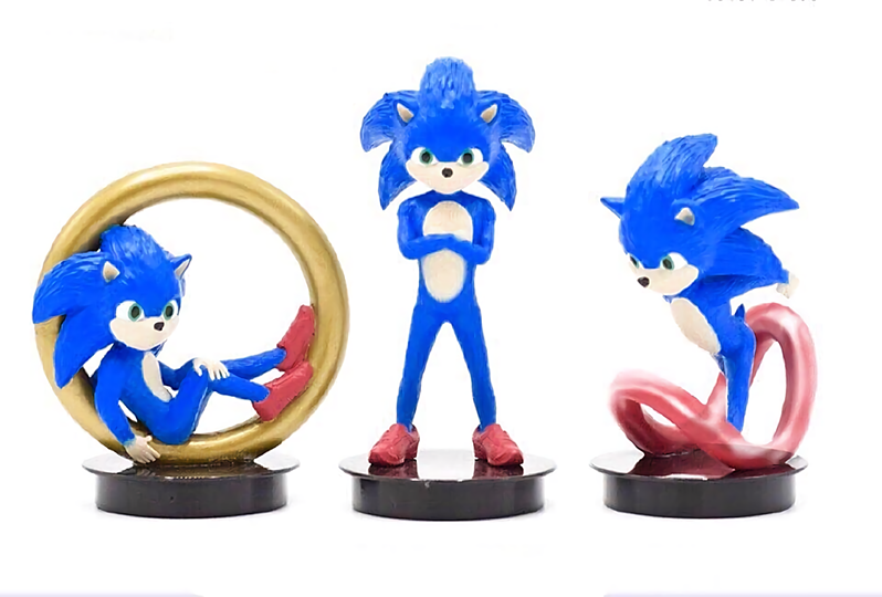 A Series Of Sonic The Hedgehog Movie Figurines May Never See