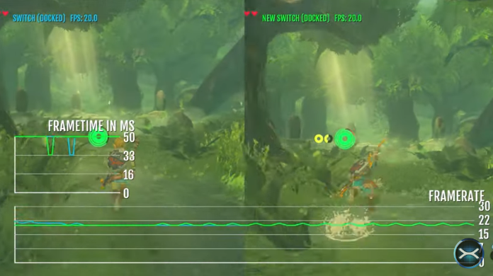 Testing Zelda: Breath of the Wild's Korko Forest on the Switch revision