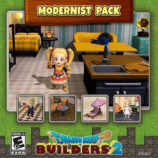 "Dragon Quest Builders 2 ""Modernist Pack"" DLC now available"