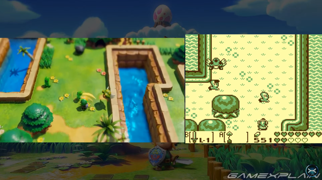 Another round of The Legend of Zelda: Link's Awakening 'Switch Vs. Game Boy' comparison footage