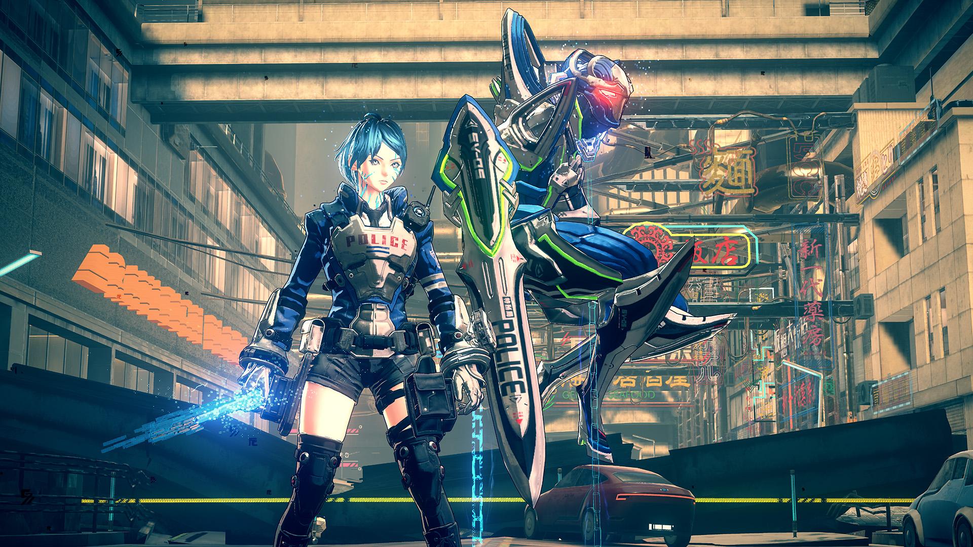 Astral Chain 'Arrow Legion' gameplay footage