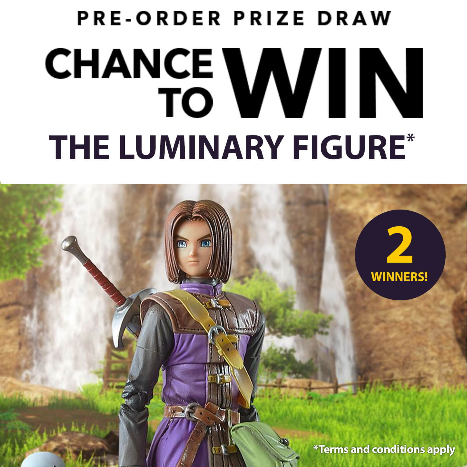Nintendo UK online store offering a chance to win Witcher 3 or Dragon Quest XI S figurines with preorder