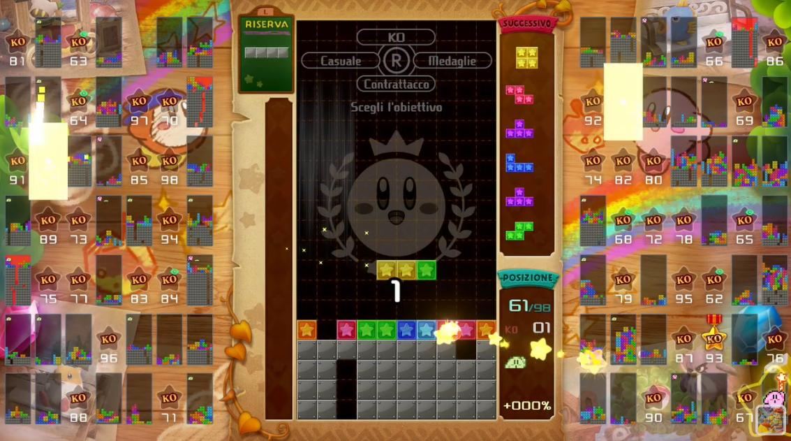 Tetris 99 'Super Kirby Clash' Maximus Cup footage
