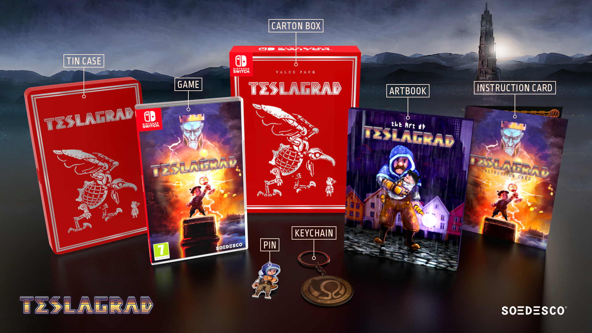 Teslagrad standard and 'Value Pack' physical releases available today for Switch