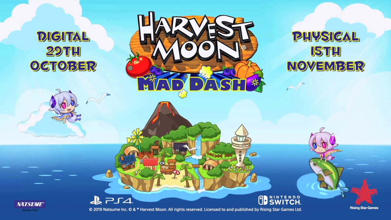 Harvest Moon: Mad Dash hits Europe digitally on Oct. 29th, 2019, physically Nov. 15th, 2019