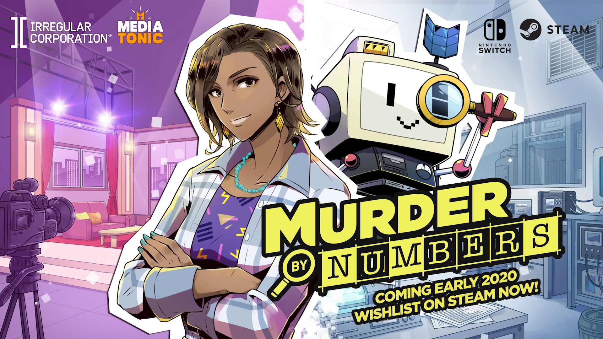 New puzzle-adventure game from Mediatonic 'Murder By Numbers' announced, launching for Switch in 2020