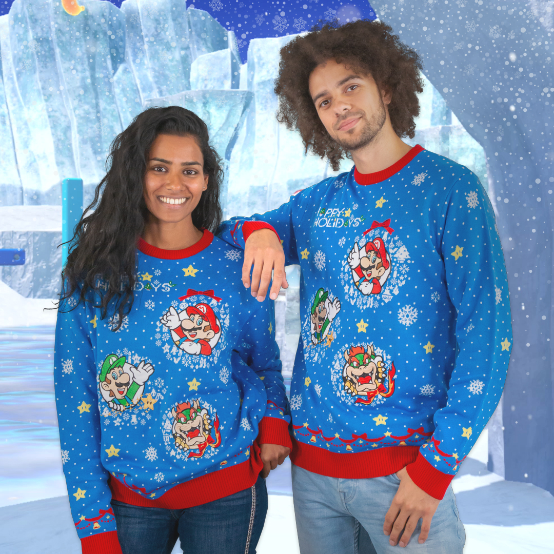 Geek up your Christmas with official Nintendo Xmas sweaters, exclusive to Geek Store!