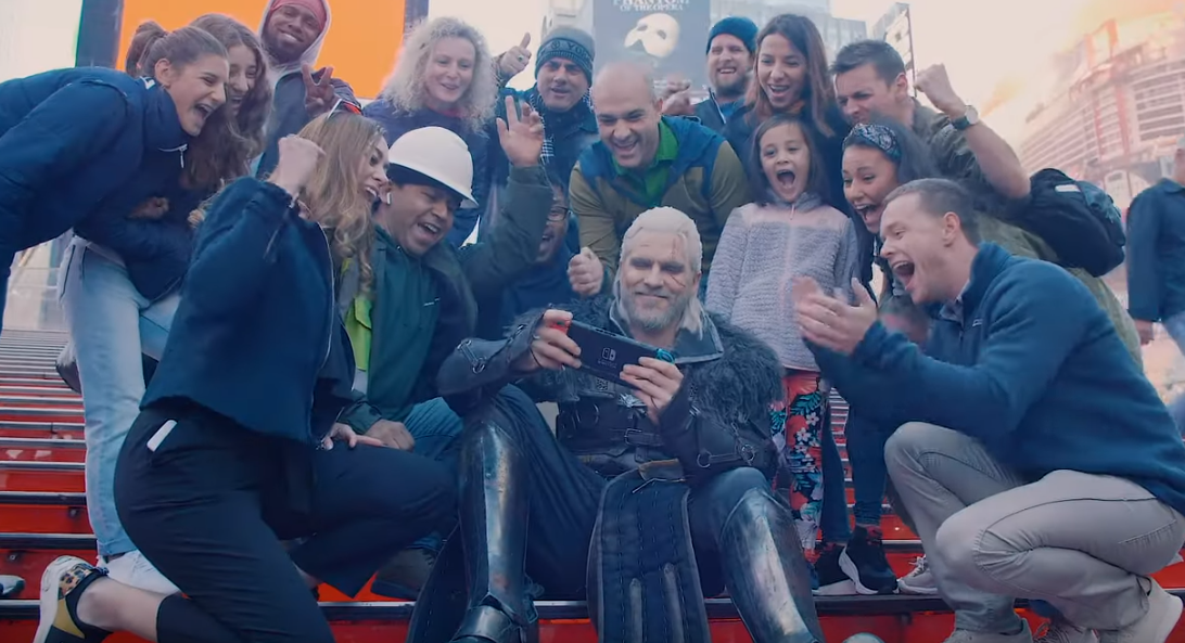 CD Projekt Red and GameSpot send Geralt around NYC to promote The Witcher 3: Wild Hunt Complete Edition on Switch