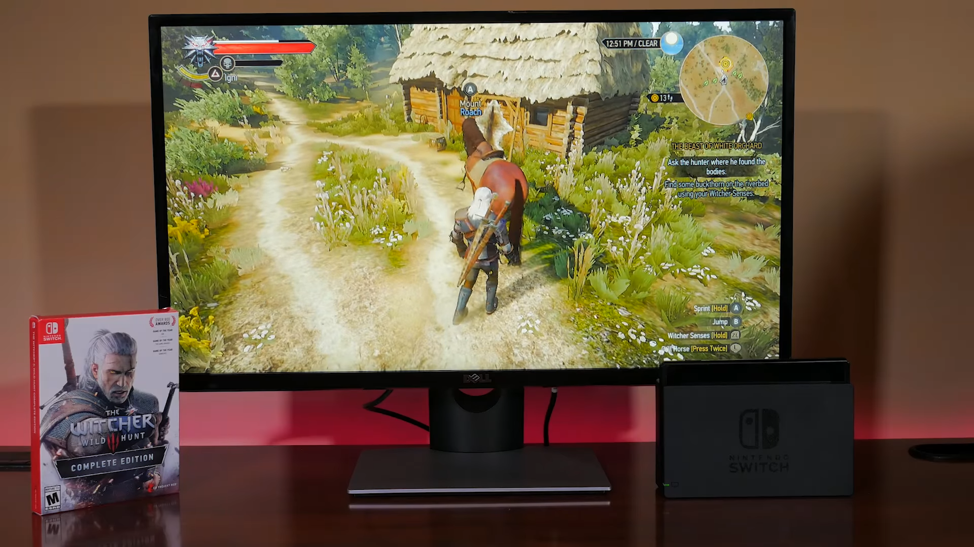 Witcher 3 can run at 60fps on a modded Switch with overclocking and tweaks