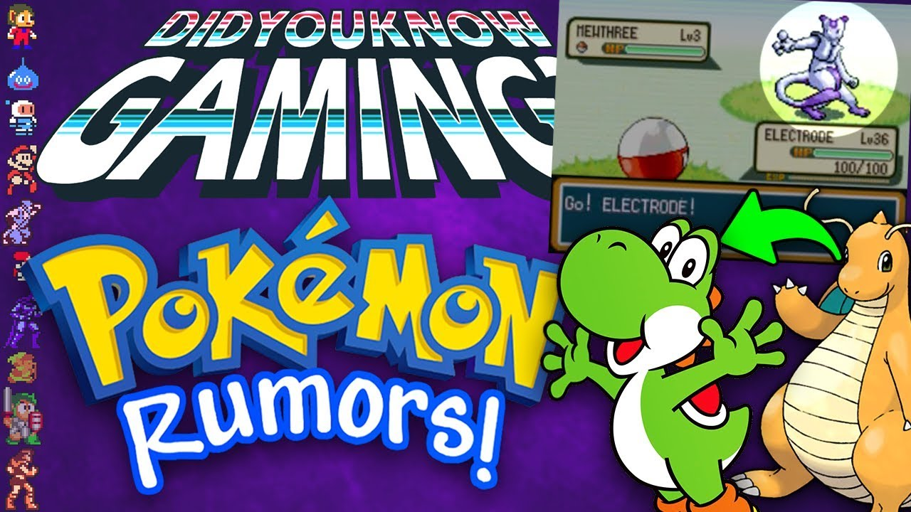 Did You Know Gaming - A Complete History of Pokemon Rumors (Part 1)