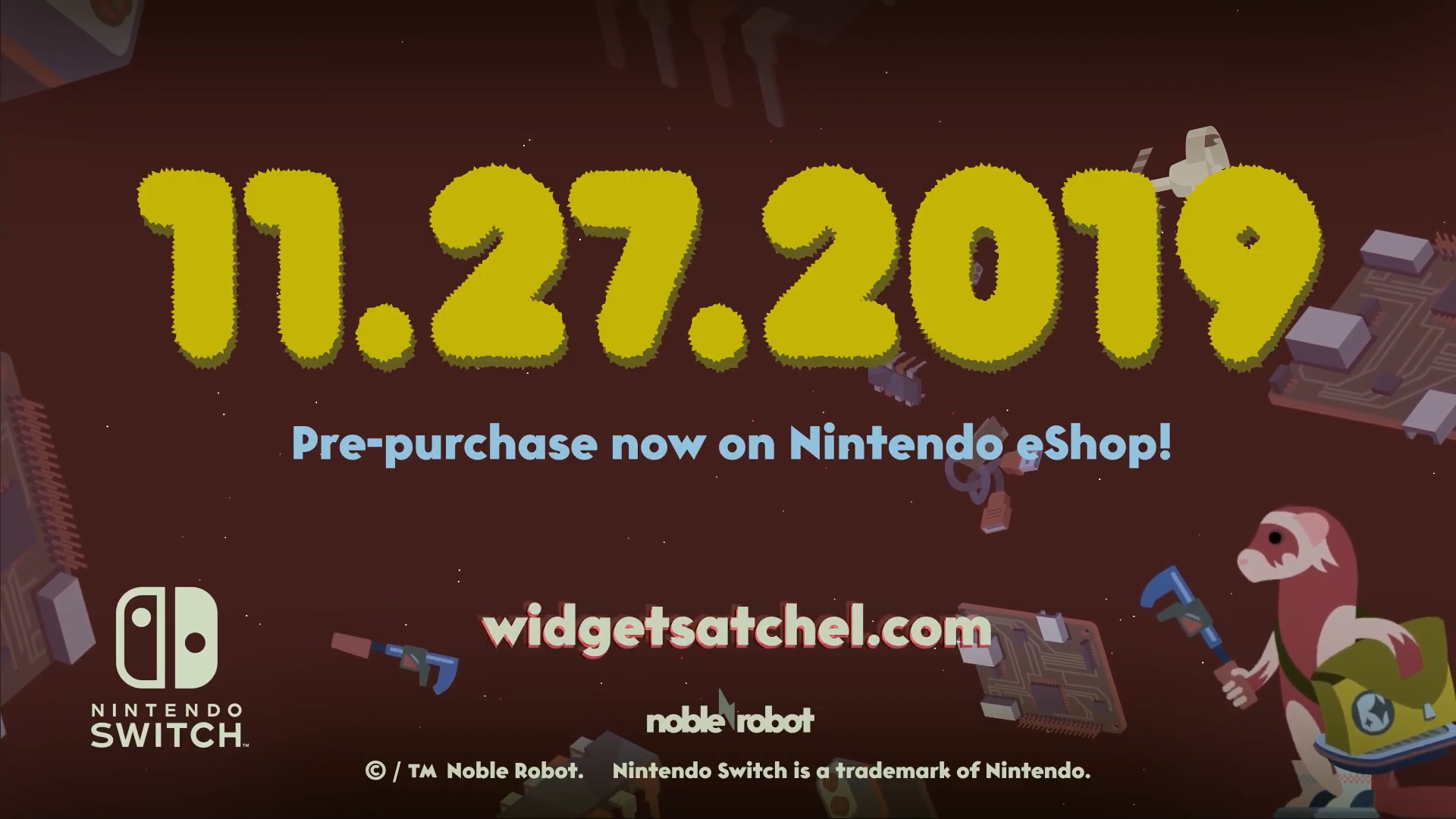 'Widget Satchel' release date announced, coming to Switch on November 27th