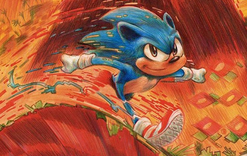 Sonic the Hedgehog movie poster for Brazil's Comic-Con Experience revealed