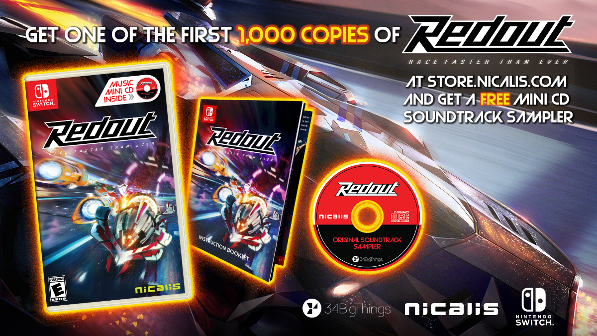 Physical Copies of Redout Coming to Switch on March 27th, 2020
