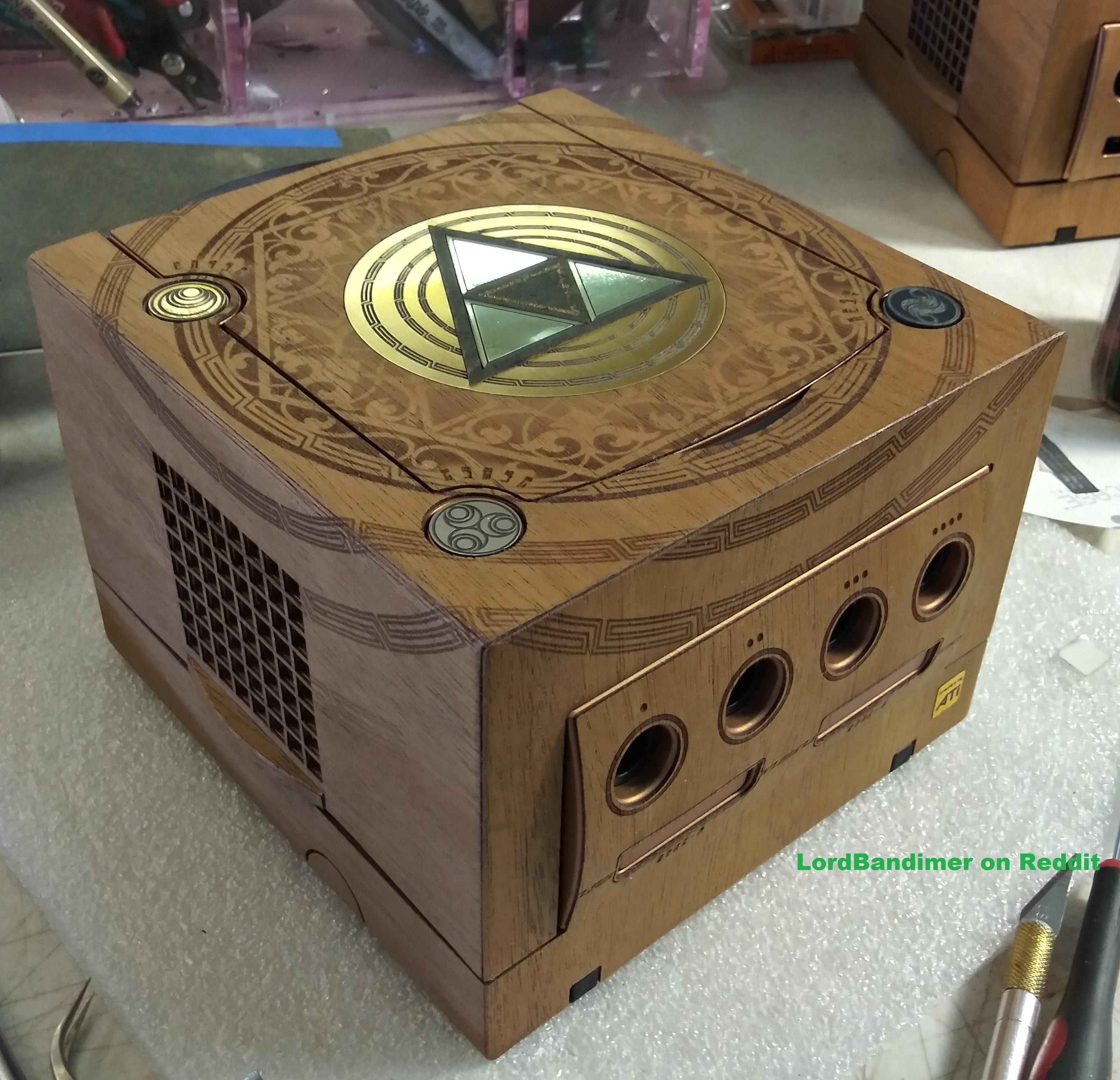 The GameCube gets a gorgeous mahogany makeover