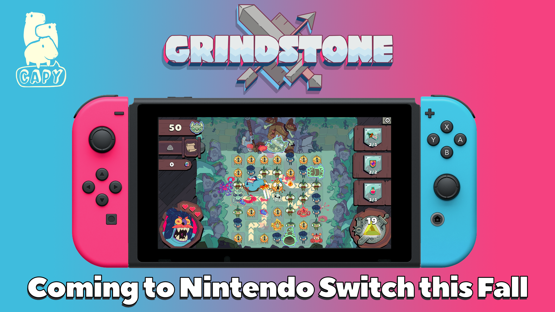 GRINDSTONE is headed to the Switch Fall 2020