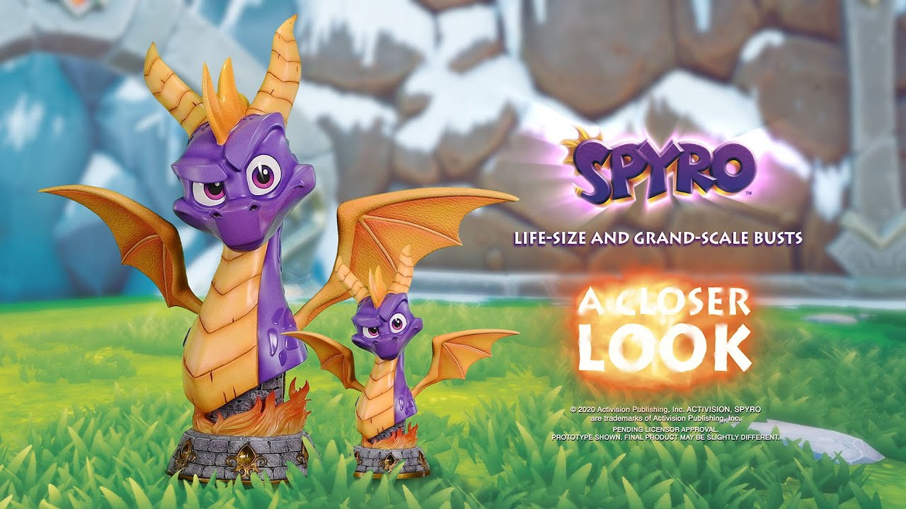 First 4 Figures showcases their Spyro the Dragon statues
