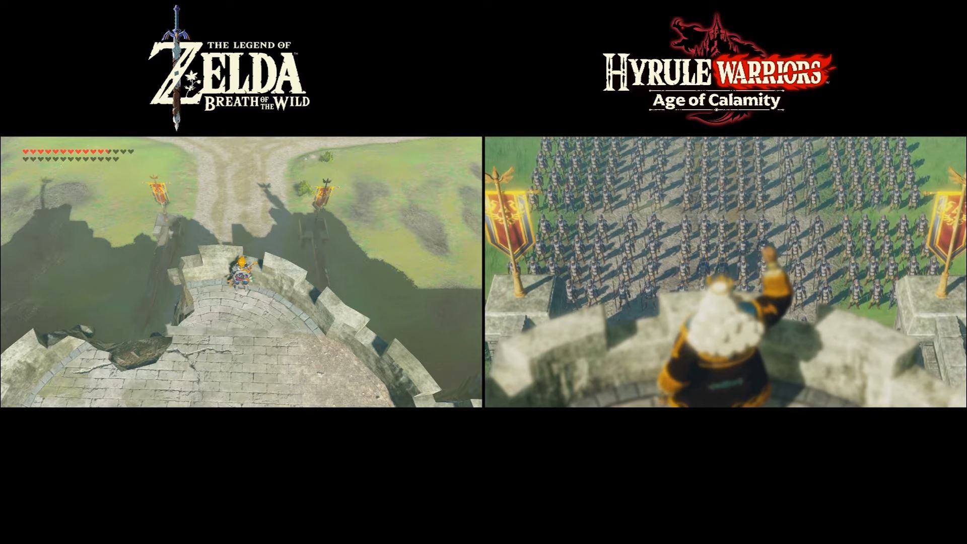 Breath Of The Wild Vs Hyrule Warriors Age Of Calamity How Similar Are They Comparison Gonintendo