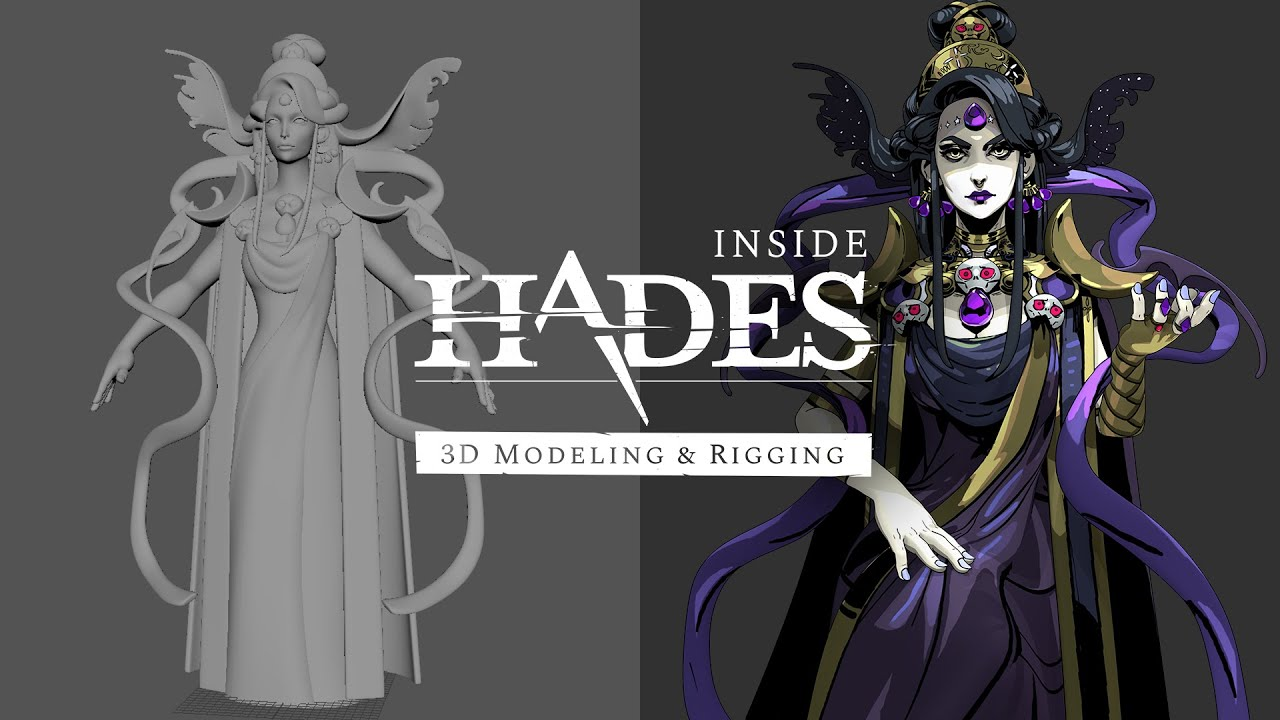 Supergiant games shows off the 3D modeling & rigging process for Hades