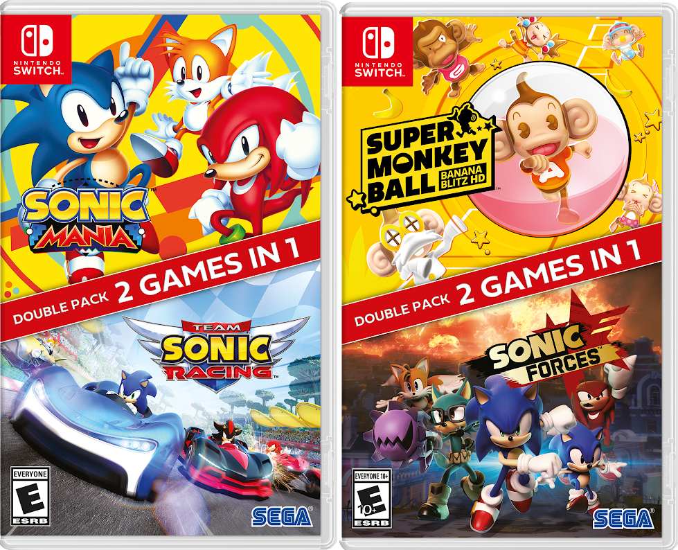 SEGA Brings Twice The Fun To Switch With Sonic Double Packs
